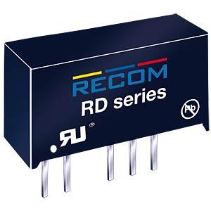 DC/DC, 2 W, ±12 V, ±84 mA, Dual RECOM 10000225