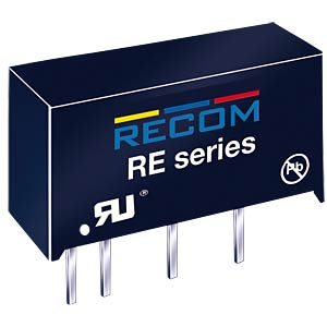 DC/DC-Wandler RE, 1 W, 12 V, 83 mA, SIL-7, Single RECOM 10000261