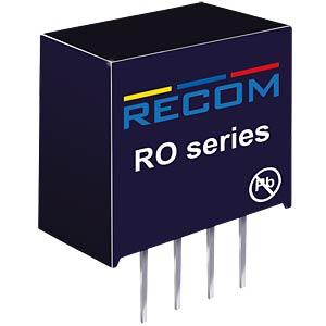 DC/DC, 1 W, 3,3 V, 303 mA, Single RECOM 10002367