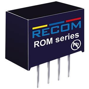 DC/DC, 1 W, 12 V, 83 mA, Single RECOM 10000621