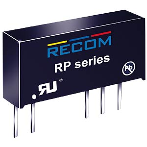 DC/DC, 1 W, 12 V, 84 mA, Single RECOM 10000651
