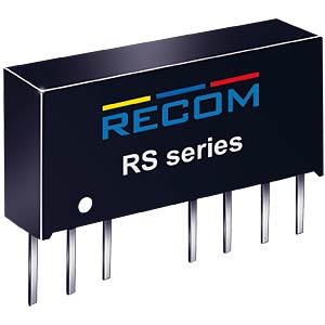 DC/DC-Wandler RS, 2 W, 12 V, 166 mA, SIL-8, Single RECOM 10000720
