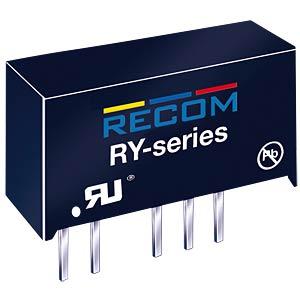 DC/DC-Wandler RY, 1 W, 5 V, 200 mA, SIL-7, Single RECOM 10000937