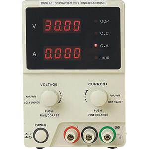 Labornetzgerät, 0 - 30 V, 0 - 5 A, stabilisiert RND LAB RND 320-KD3005D