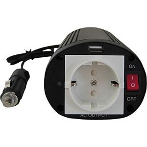 Wechselrichter, modifizierte Sinuswelle 150 W, 12 V, Schutzkonta RND POWER RND 320-00001