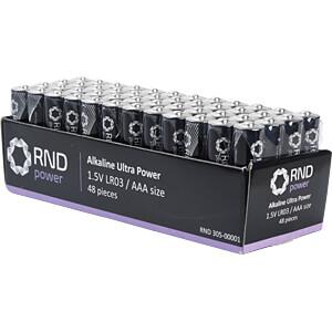 Alkaline Batterie, AAA (Micro), 48er-Pack RND POWER HQLR03/48BOX