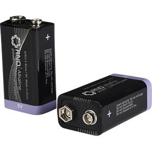 Alkaline Batterie, 9-V-Block, 10er-Pack RND POWER
