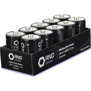 Alkaline Batterie, C (Baby), 10er-Pack RND POWER