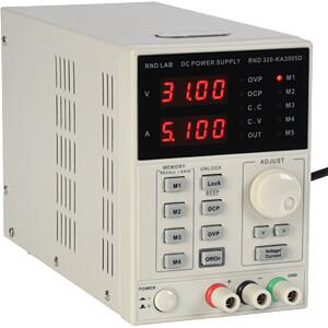 Labornetzgerät, 0 - 30 V, 0 - 5 A, stabilisiert, programmierbar RND LAB RND 320-KA3005D