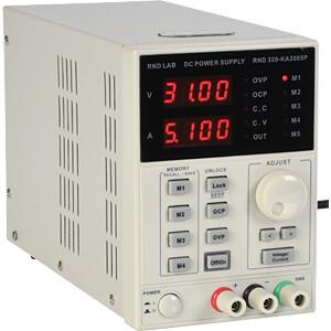 Labornetzgerät, 0 - 30 V, 0 - 5 A, stabilisiert, programmierbar RND LAB RND 320-KA3005P