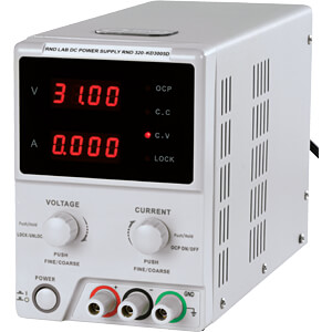 Laboratory compact power supply unit 0 - 30 V DC/0 - 5 A DC RND LAB RND 320-KD3005D