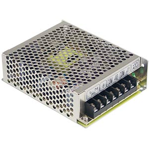 Switching power supply, 50 W, 10 A, 5 V MEANWELL RS-50-5