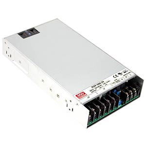 Switching power supply, slim, 450 W, PFC, 5 V/90 A MEANWELL RSP-500-5