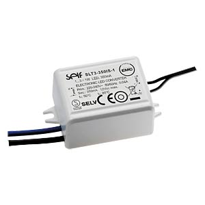 LED-Trafo, 3 W, 6 V DC, 700 mA SELF SLT3-700IS-1
