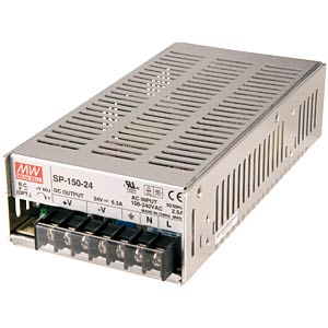 Switching power supply, closed, 24 V / 6.3 A / 150 W MEANWELL SP-150-24