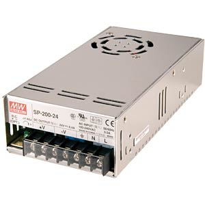 Switching power supply, closed, 12 V / 16.7 A / 200 W MEANWELL SP-200-12
