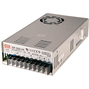 Switching power supply, closed, 48 V / 6.7 A / 320 W MEANWELL SP-320-48
