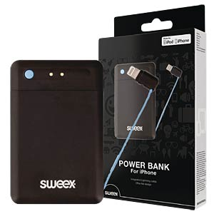 Powerbank mit Lightning-Kabel, 2.500 mAh SWEEX SW2500PB001L