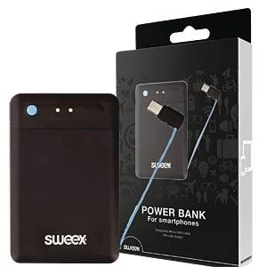 Powerbank mit microUSB-Kabel, 2.500 mAh SWEEX SW2500PB001U