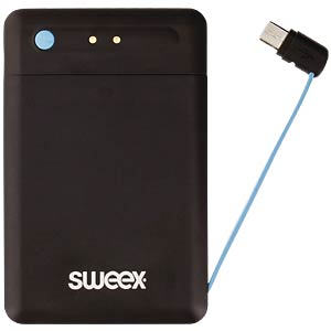 Power bank with micro-USB cable, 2500 mAh SWEEX SW2500PB001U