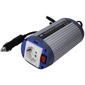 Inverter + USB port, 12 V, 230 V, 150 W HQ HQ-INV150WU-12