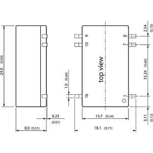 DC/DC-Konverter, TES-2N Serie, 9-18 / 15 VDC TRACO TES 2N-1213