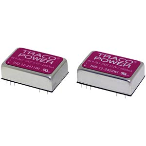 DC/DC converter, THD-12WI series, 18 - 75/5.1 V DC TRACO THD 12-4811WI