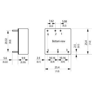 DC/DC-Wandler THN 15WI, 15 W, 15 V, 500 mA, Metallgehäuse TRACO THN 15-4823WI