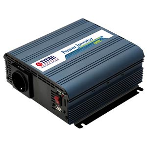 Wechselrichter, Sinus, 600 W, Schutzkontakt TITAN HW-600V6