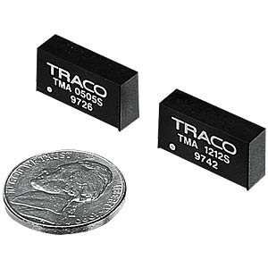 DC/DC-Wandler TMA, 1 W, 12 V, 40 mA, SIL-7 TRACO TMA 2412D