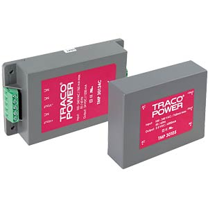 Switching power supply, TMP series, 5.0 & ±12 V DC/3.0 & ±0.60 A TRACO TMP 30512