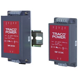 Switching power supply, TMP series, 24 V DC/0.625 A TRACO TMP 15124C