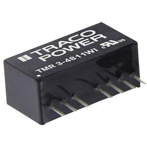 DC/DC-Wandler TMR-3, 3 W, 12 V, 125 mA, SIL-8 TRACO TMR 3-1222WI
