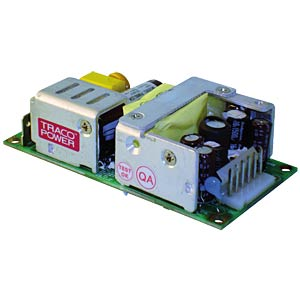 Switching power supply, open frame, TOP-60, 5.0 V DC & 24 V DC/6 TRACO TOP 60254