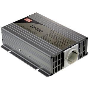Wechselrichter, Sinus, 200 W, Schutzkontakt MEANWELL TS-200-212B