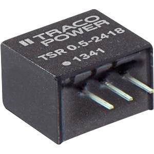 DC/DC-Wandler TSR 0.5, 3,3 V, 500 mA, SIL TRACO TSR 0.5-2433