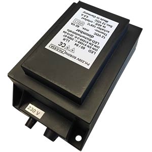 LED safety transformer, 100 VA BSAB-ELEKTRONIK UHDC 100VA 24V