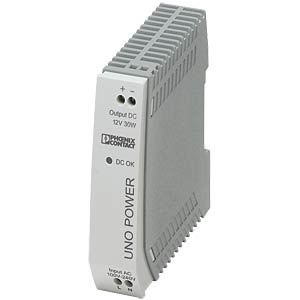 Voeding - UNO-PS, 2,5 A, 12 V DC, 30 W PHOENIX-CONTACT 2902998