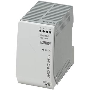 Power supply unit - UNO-PS, 6.67 A, 15 V DC, 100 W PHOENIX-CONTACT 2903002