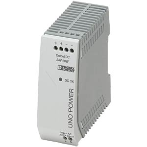 Voeding - UNO-PS, 2,5 A, 24 V DC, 60 W PHOENIX-CONTACT 2902992