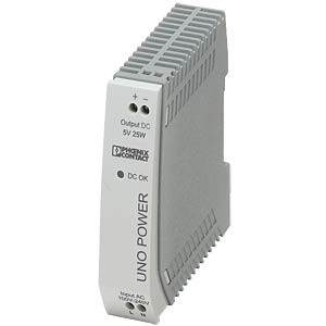 Power supply unit - UNO-PS, 5 A, 5 V DC, 25 W PHOENIX-CONTACT 2904374