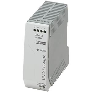Power supply unit - UNO-PS, 8 A, 5 V DC, 40 W PHOENIX-CONTACT 2904375