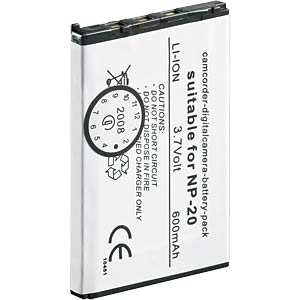 Li-ion camcorder battery 3.7V 570mAh, for Casio FREI