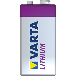 Lithium Batterie, 9-V-Block, 1200 mAh, 1er-Pack VARTA 06122 301 401