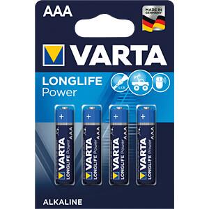 Alkaline Batterie, AAA (Micro), 4er-Pack VARTA 04903 101 404