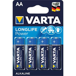 Alkaline Batterie, AA (Mignon), 4er-Pack VARTA 04906 101 404