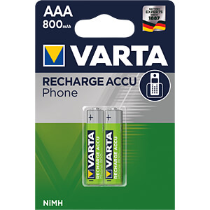 VARTA PhonePower Micro batterij, 800mAh, 2 st. VARTA 58398 101 402