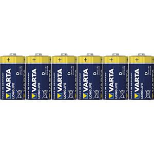 VARTA Longlife Extra, LR20, 6-pak VARTA 4120101306
