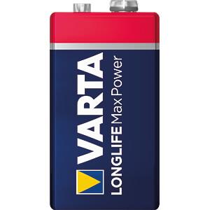 MaxPower, Alkaline Batterie, 9-V-Block, 1er-Pack VARTA 4722101401