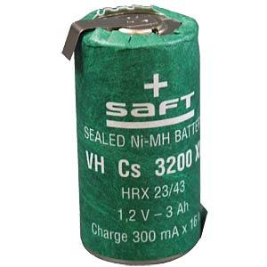 NiMH battery, SubC, 1.2 V, 3200 mAh, Z solder lug SAFT 790521